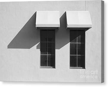 Window Awnings Shadows Canvas Print