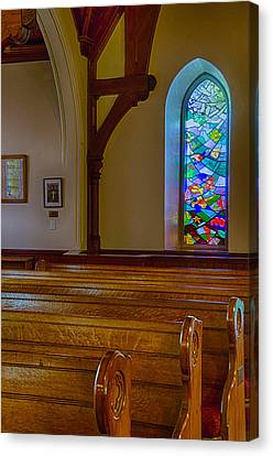 Window Behind The Nave Canvas Print