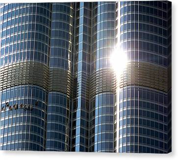 Canvas Print featuring the photograph Window Cleaners Burj Khalifa by Henry Kowalski