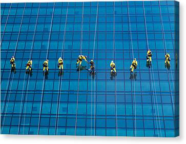Window Cleaners Canvas Print by David Van der Want