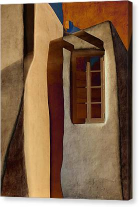 Window De Santa Fe Canvas Print by Carol Leigh