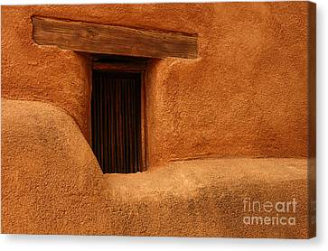 Window Detail Degrazia Mission In The Sun Canvas Print