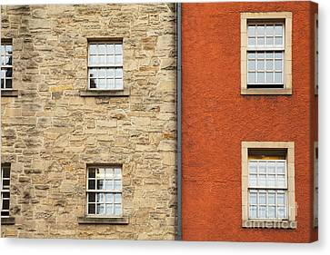 Window Detail Edinburgh Canvas Print by Jane Rix