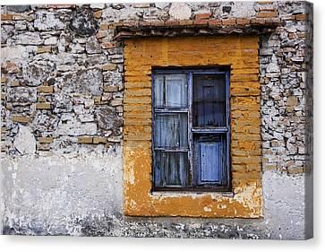 Window Detail Mexico Canvas Print by Carol Leigh