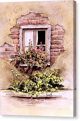 Window Flowers Canvas Print by Sam Sidders