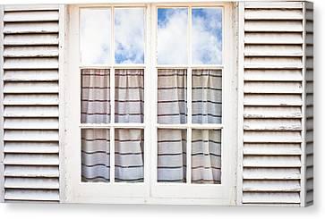 Window Frame Canvas Print