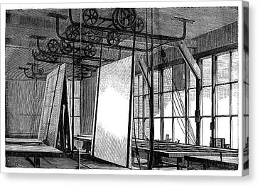 Window Glass Production Canvas Print by Science Photo Library