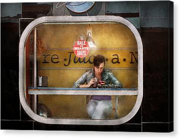 Window - Hoboken Nj - Hale And Hearty Soups  Canvas Print by Mike Savad