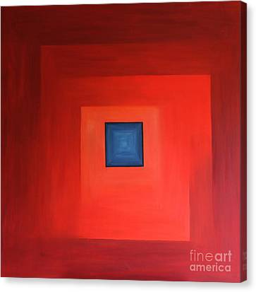 Window In Blue - Abstract Painting Canvas Print by Christiane Schulze Art And Photography