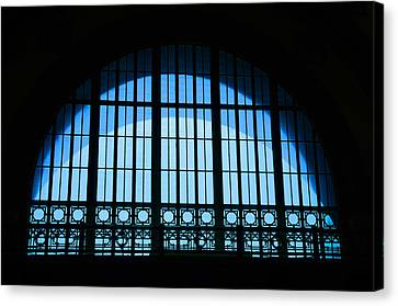 Canvas Print featuring the photograph Window In Chattanooga Train Depot by Susan  McMenamin