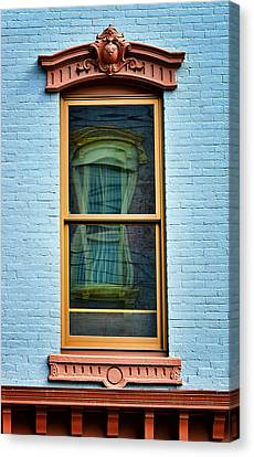 Canvas Print featuring the photograph Window In Window In Red Bank by Gary Slawsky
