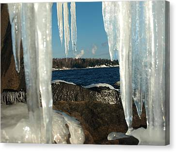 Canvas Print featuring the photograph Window Into Minnesota by James Peterson