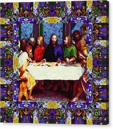 Window Into The Last Supper 20130130p28 Canvas Print by Wingsdomain Art and Photography