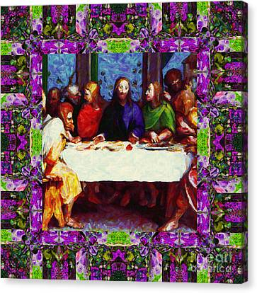 Window Into The Last Supper 20130130p68 Canvas Print by Wingsdomain Art and Photography