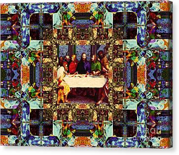 Window Into The Last Supper 20130130v2-horizontal Canvas Print by Wingsdomain Art and Photography