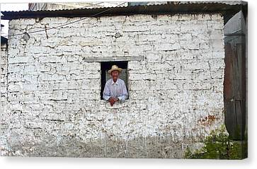 Window Man Canvas Print by Eye Browses
