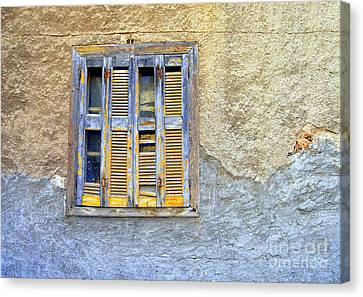 Window Nafplio Canvas Print by A K Dayton