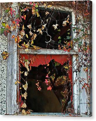 Canvas Print featuring the photograph Window Of A Time Gone By by Ellen Tully
