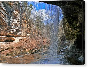 Canvas Print featuring the photograph Window Of A Waterfall by Kathleen Scanlan