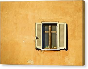 Window Of Rome Canvas Print