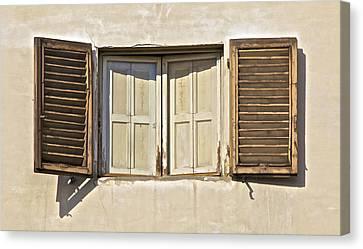 Window Of Tuscany Canvas Print