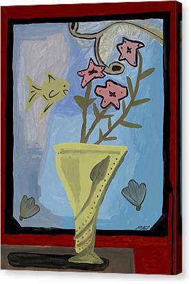 Canvas Print featuring the painting Window Of Wonders by Artists With Autism Inc