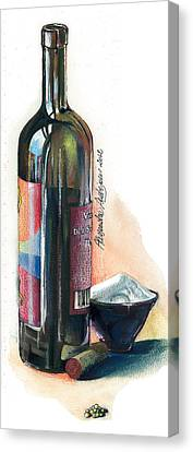 Window On A Bottle Canvas Print