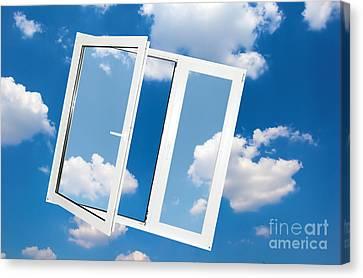 Window On Blue Sky Canvas Print by Michal Bednarek