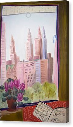 Window On Central Park South Canvas Print by Tatjana Krizmanic