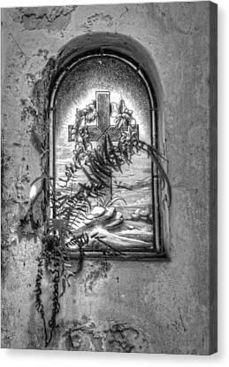 Window On The Crypt Canvas Print