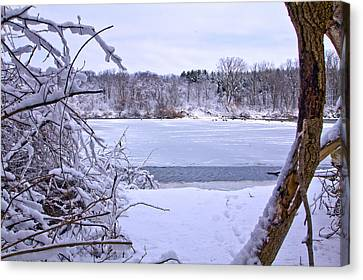 Window On The Lake Canvas Print by Jim Baker