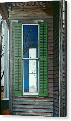 Window On The Past Canvas Print by Peter Muzyka