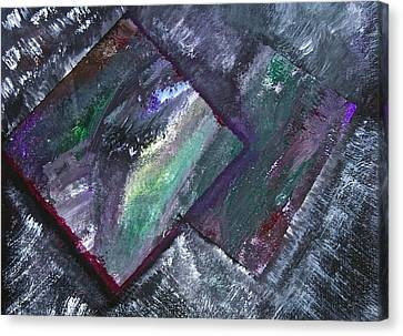 Canvas Print featuring the painting Window Pain by Tracey Myers
