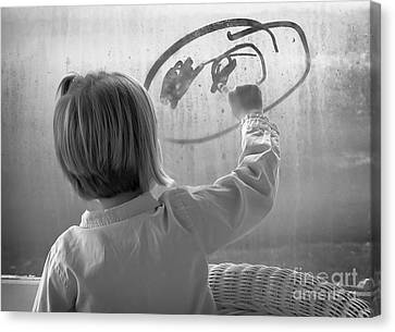Window Painting Canvas Print