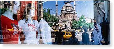 Window Reflection, Istanbul, Turkey Canvas Print by Panoramic Images