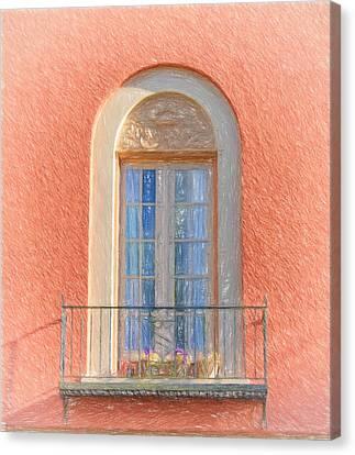Window Reflection Canvas Print by Kim Hojnacki