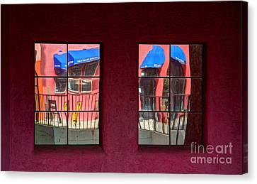 Window Reflections Canvas Print by Vivian Christopher