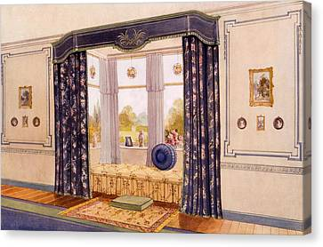 Window Seat Encased By Luxurious Canvas Print