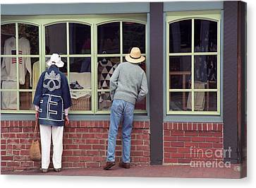 Canvas Print featuring the photograph Window Shoppers by James B Toy
