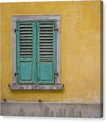 Window Shutter Canvas Print by Heiko Koehrer-Wagner
