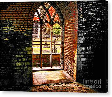 Window To Courtyard Canvas Print