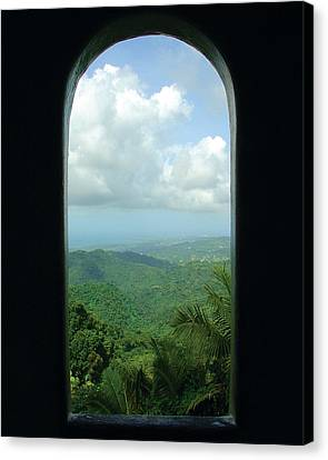 Window To Paradise  Canvas Print by Jon William Lopez