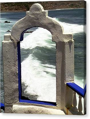 Canvas Print featuring the photograph Window To The Ocean by Philomena Zito