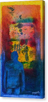 Window To The Other Side Canvas Print by Donna Blackhall