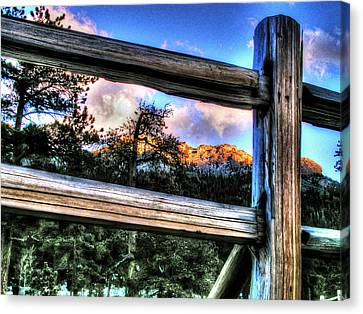 Window To Twin Sisters Canvas Print by Craig T Burgwardt