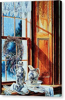 Window Treasures Canvas Print by Hanne Lore Koehler