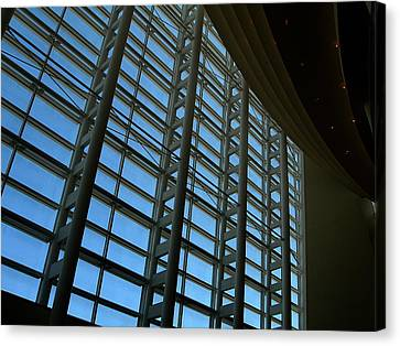 Canvas Print featuring the photograph Window Wall At The Adrienne Arsht Center by Greg Allore