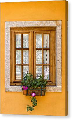 Window With Flowers Canvas Print