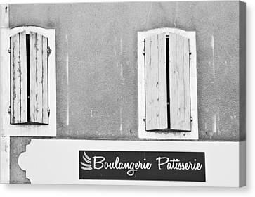 Boulangerie Canvas Print - Windows Above The Boulangerie by Georgia Fowler