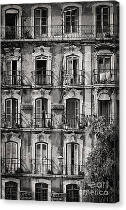 Windows And Balconies 1 Canvas Print